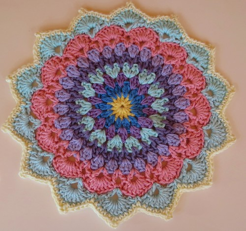 Crocheted Mandala Cloths