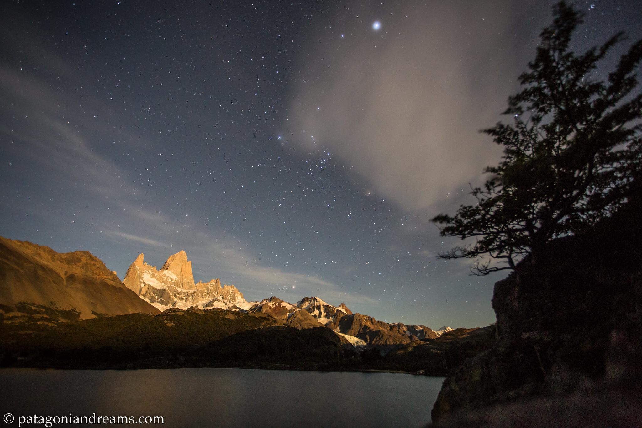 Laguna Capri by night, NP Los Glaciares, Patagonia, Argentina.