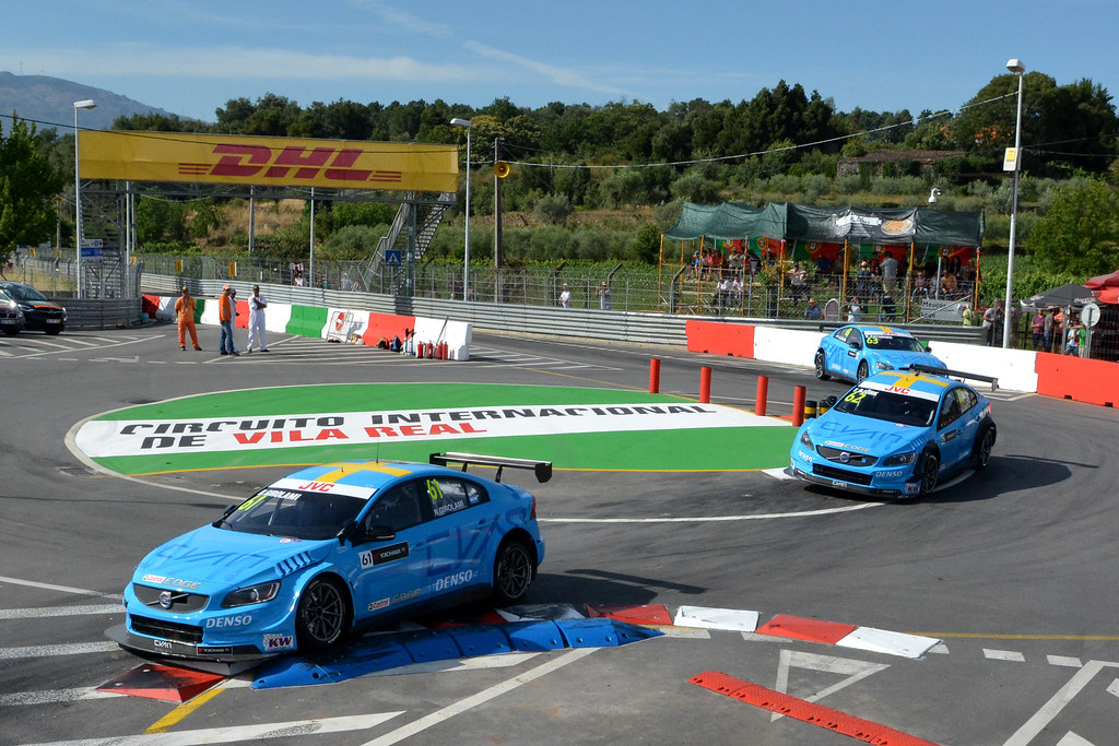 61 GIROLAMI Nestor (arg) Volvo S60 Polestar team Polestar Cyan Racing action 62 BJORK Thed (swe) Volvo S60 Polestar team Polestar Cyan Racing action 63 CATSBURG Nicky (ned) Volvo S60 Polestar team Polestar Cyan Racing action during the 2017 FIA WTCC World Touring Car Championship race of Portugal, Vila Real from june 23 to 25 - Photo Paulo Maria / DPPI