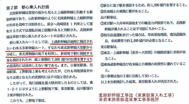 上越新幹線新宿駅大宮駅ルート断念の証拠