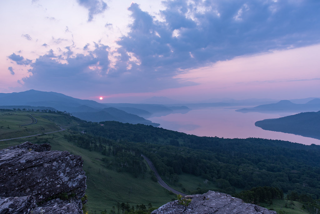 Sun rise at Bihoro pass