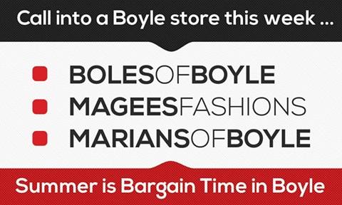 Bargain time in Boyle