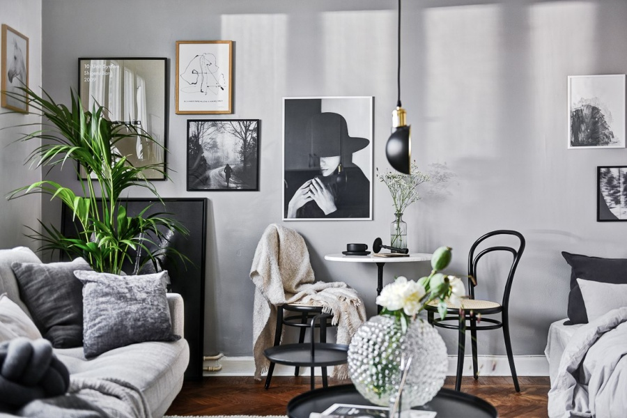 Small Scandinavian Studio Apartment