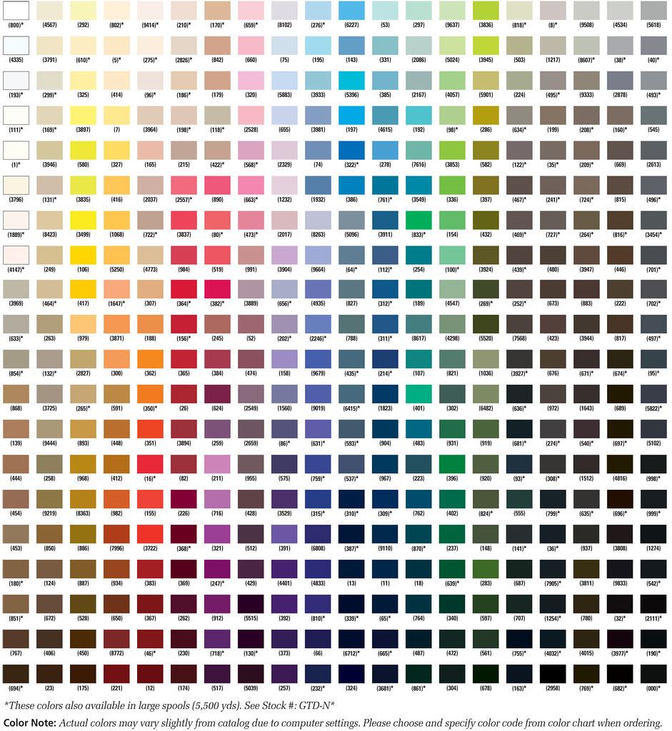 6 gutermann 100 polyester mara 30 thread 328 yard spool color of