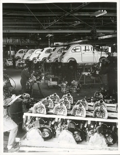 Assembling Fiats at New Zealand Motor Industries, Otahuhu, Auckland.
