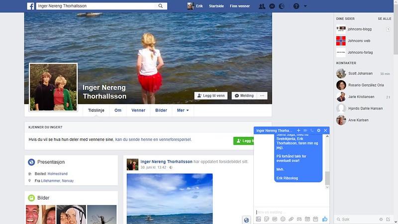 facebook kona til storebror til fars arbeider