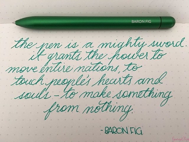 Review @BaronFig Experiment Rollerball Pen 9