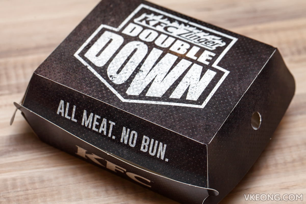 KFC Zinger Double Down Box