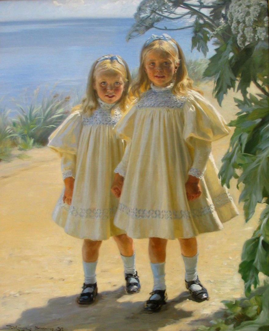 The Benzon daughters by Peder Severin Krøyer, 1897