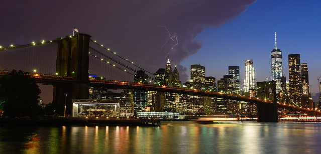 New York, The United States - Lightning In The Sky
