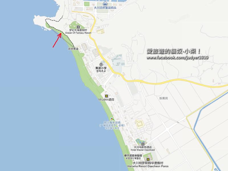 大川海水浴場地圖1