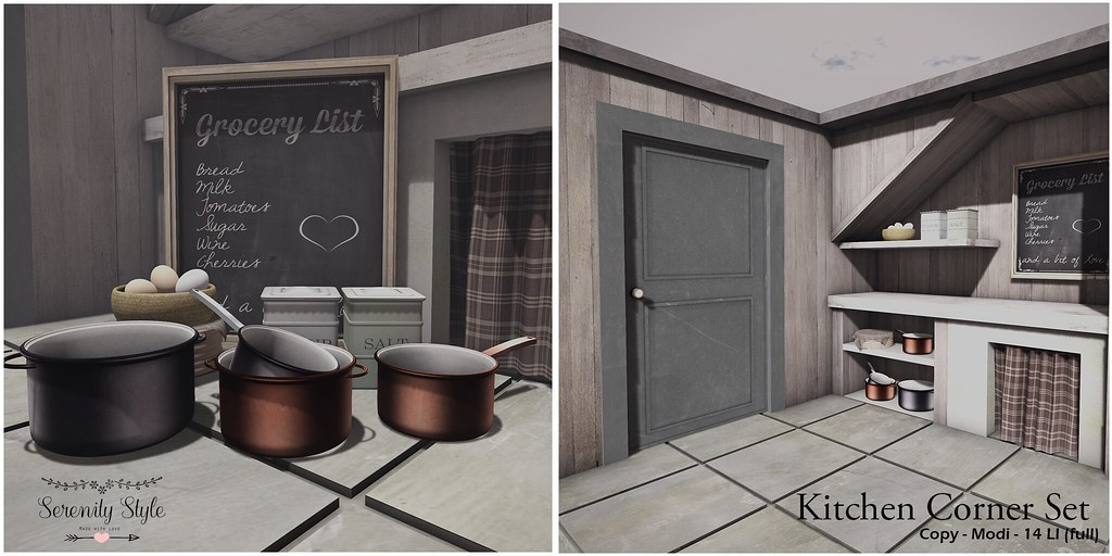 Serenity Style- Kitchen Corner - Shiny Shabby - SecondLifeHub.com