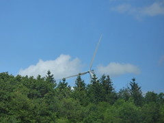Wind farm from the Autoroute du Soleil - A6. - Photo of Painblanc