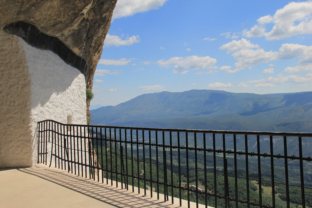 Looking out over the Bjelopavlići plains, Ostrog Monastery