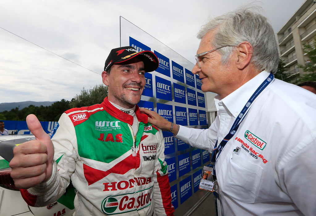 MICHELISZ Norbert (hun) Honda Civic team Castrol Honda WTC ambiance portrait MARIANI Alessandro (ita) team Principal Honda Team Jas ambiance portrait during the 2017 FIA WTCC World Touring Car Championship race of Portugal, Vila Real from june 23 to 25 - Photo Paulo Maria / DPPI