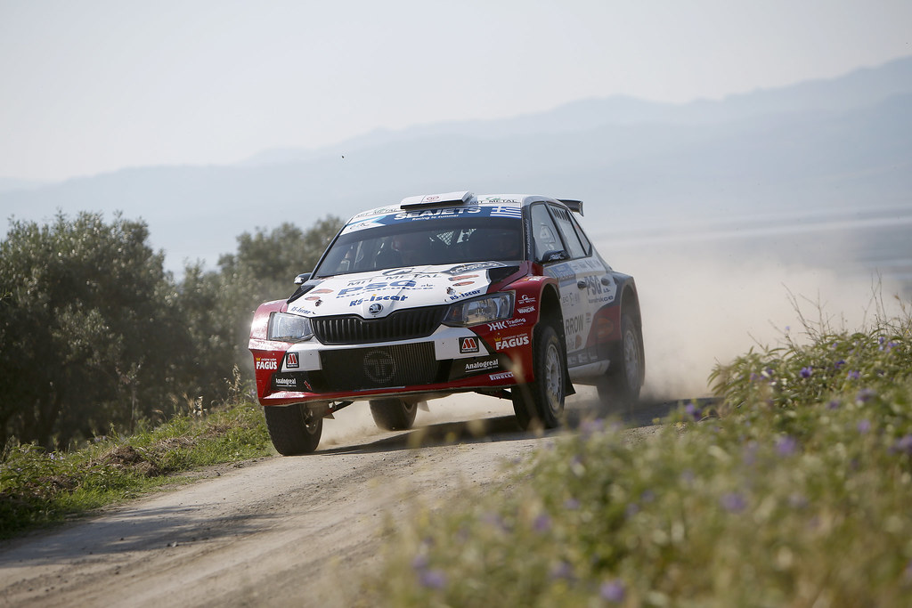 07 TLUSTAK Antonin (cze) and VYBIRAL Ivo (cze) action during the European Rally Championship 2017 - Acropolis Rally Of Grece - From June 2 to 4 - Photo Thomas Fenêtre / DPPI