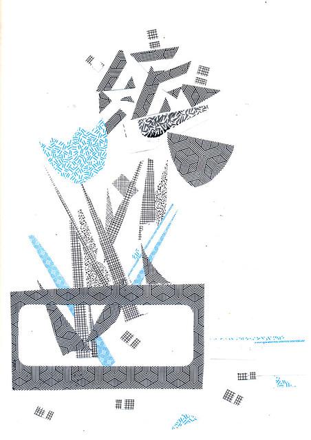 Sketchbook #104: Pre-printed paper