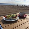 I do like to be beside the seaside #breakfast #beach #portobello #edinburgh