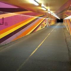 #psychedelic #tunnel #burkegilman #biketrail #mural #sammamishrivertrail #burkegilmantrail #waynetunnel