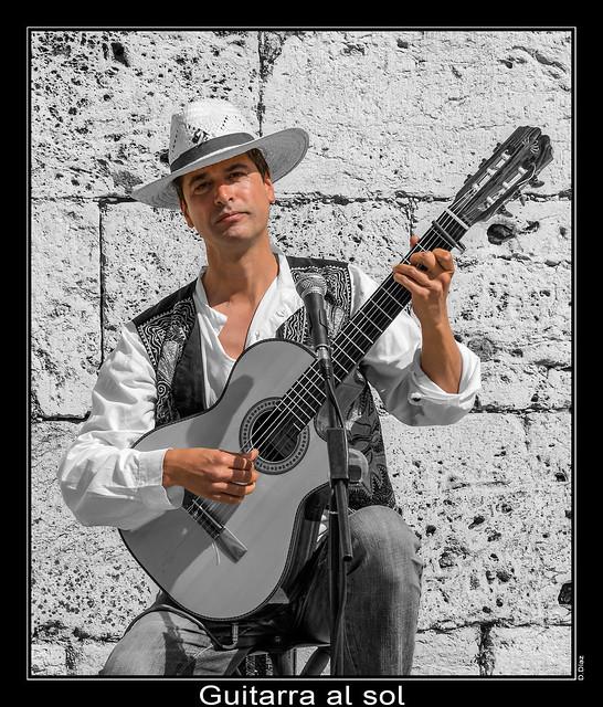 Guitarra al sol