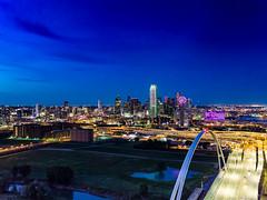 Dallas Skyline and Margaret McDermott Bridge