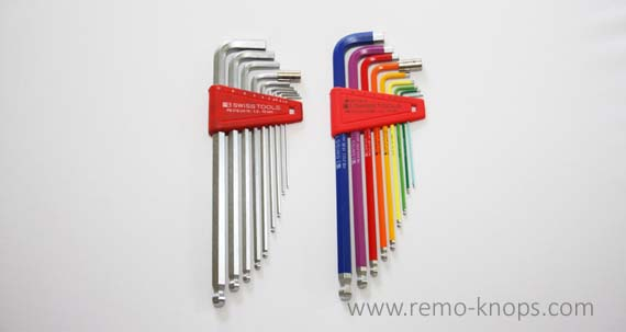 PB Swiss Tools 212LH-10 RB - Rainbow long hex key set 7540