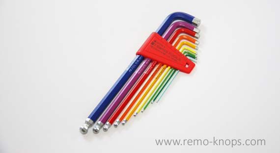 PB Swiss Tools 212LH-10 RB - Rainbow long hex key set 7536