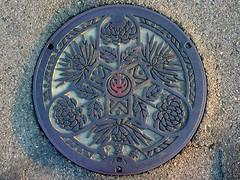 Jyushiyama Aichi, manhole cover (愛知県十四山村のマンホール)