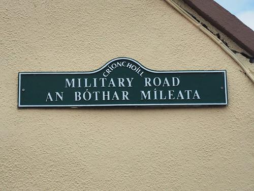 military road sign barracks birr crinkle crinkill ireland olympus