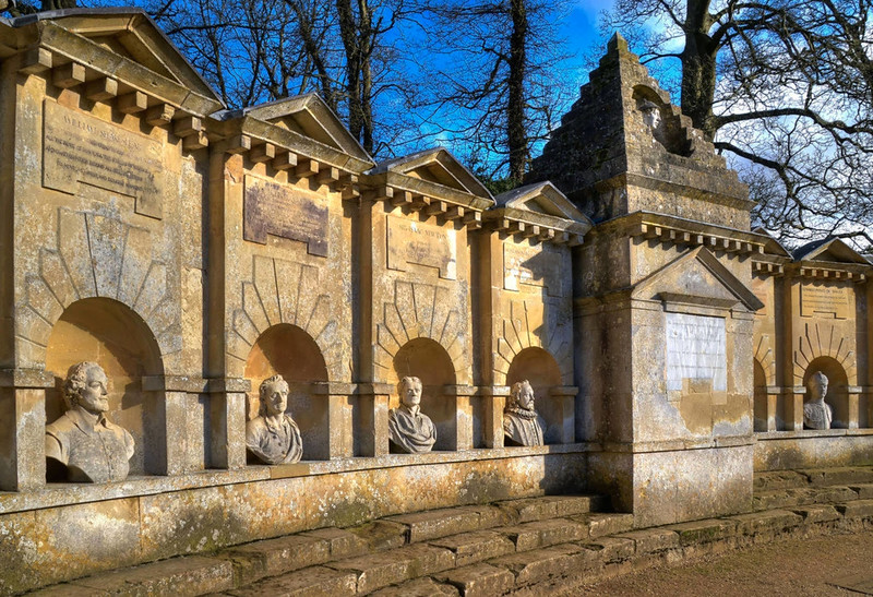 Stowe Gardens - Temple of British Worthies. Credit Baz Richardson, flickr
