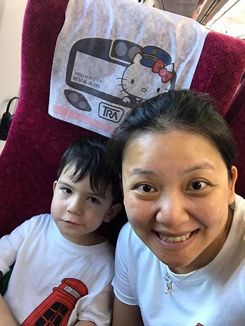 林佳蓉母子坐往花蓮火車 (3)