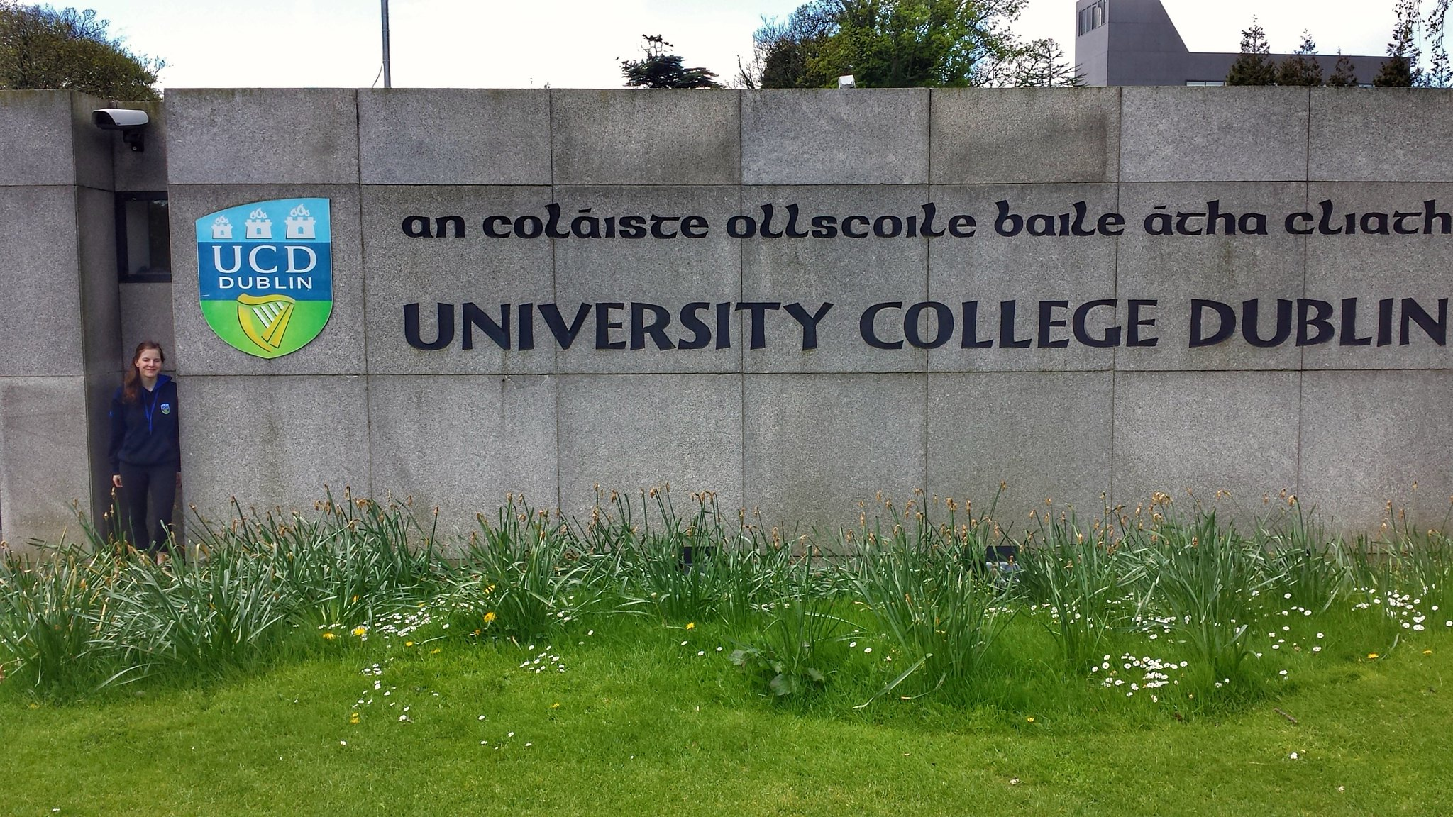 University College Dublin sign