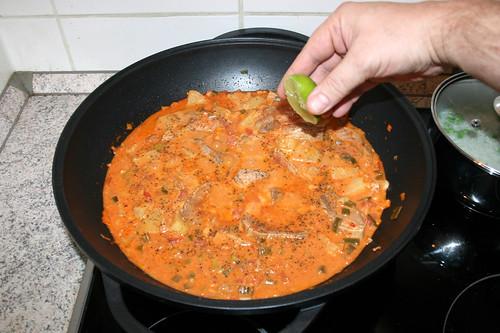 45 - Mit Salz, Pfeffer & Limettensaft abschmecken / Taste with salt, pepper & lime juice