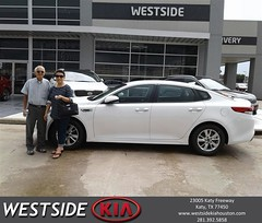 Congratulations Anthony on your #Kia #Optima from Marlon Smith at Westside Kia!