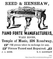 1858 reed & henshaw pianoforte manufacturer