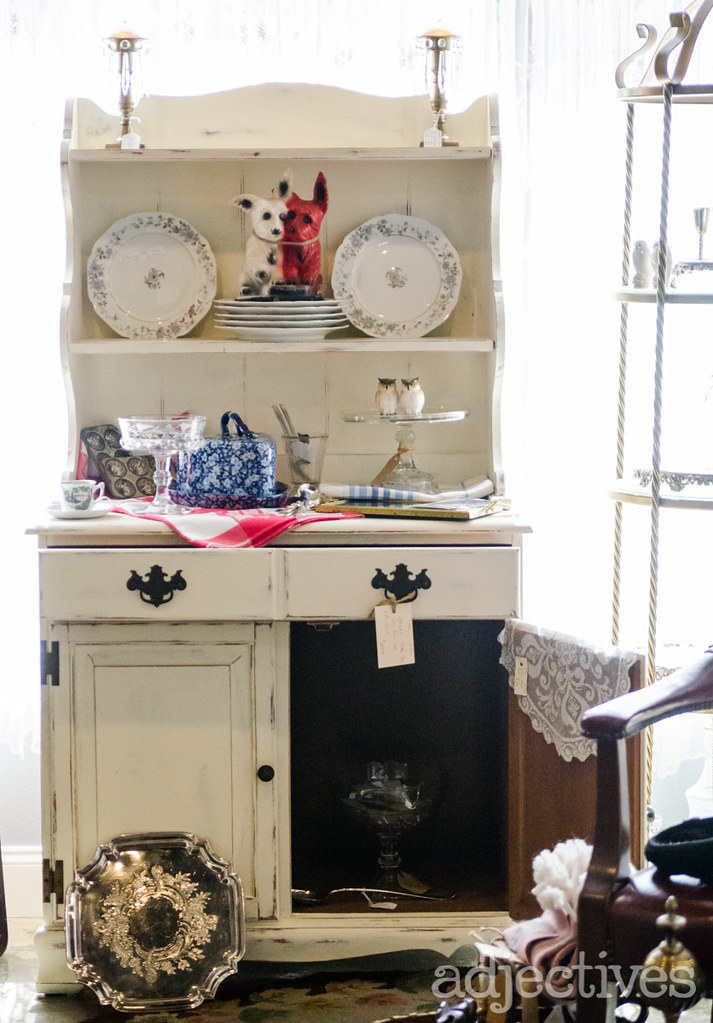 Hand Painted sideboard and hutch by Suzy Q in Adjectives Altamonte