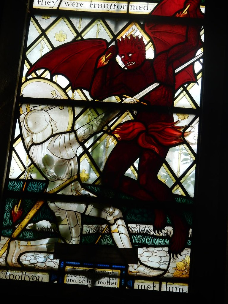 A bad knight out Ely Circular St James Church, Stretham
