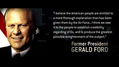 Gerald Ford former US president on UFOs