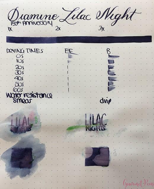 Ink Shot Review Diamine Anniversary Lilac Night @AppelboomLaren 2