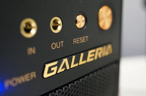 金色の本体ロゴ・ガレリア