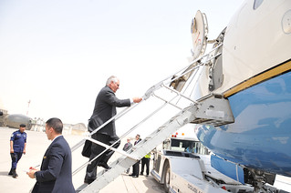 Secretary Tillerson Departs Kuwait