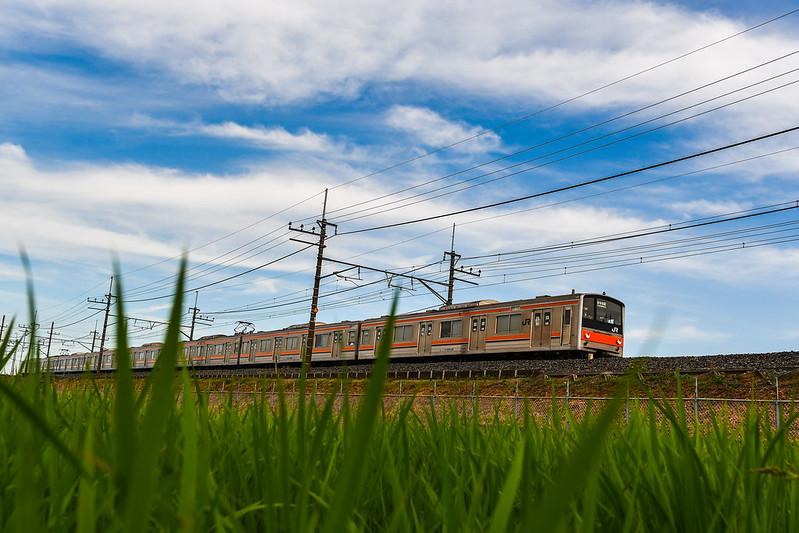 D7500で走る電車を撮影する