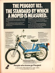 1978 Peugeot 103 Moped Advertisement Playboy August 1978