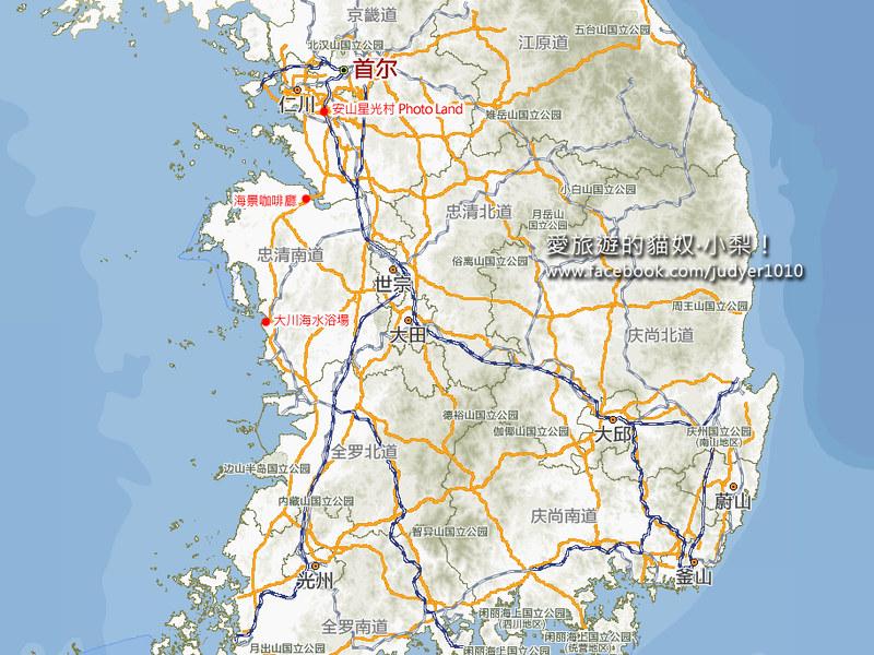 大川海水浴場地圖