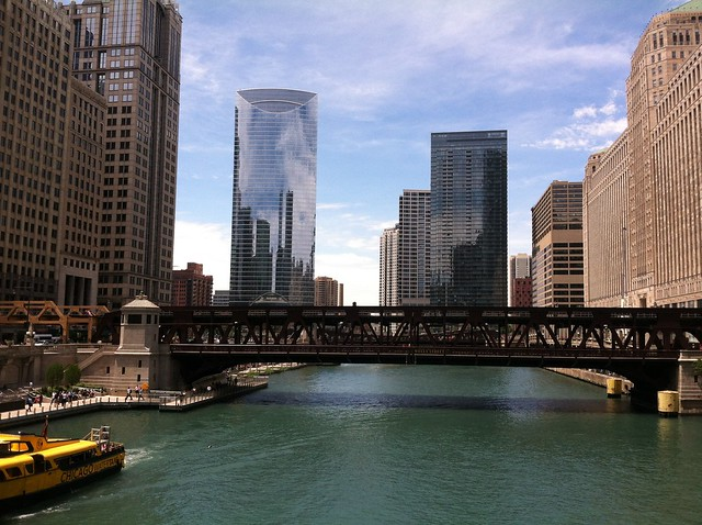 Chicago River - looking West towards Wolf Island