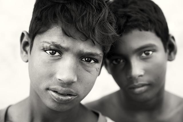 Bangladesh, street kids in Barisal