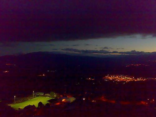 Agri valley at the nightfall