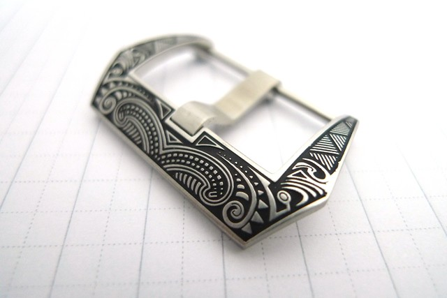 24mm Engraved Native Tattoo Pre-V SUS 316L Buckle