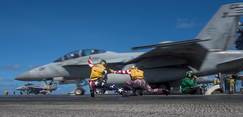 USS Ronald Reagan conducts a flight operations.