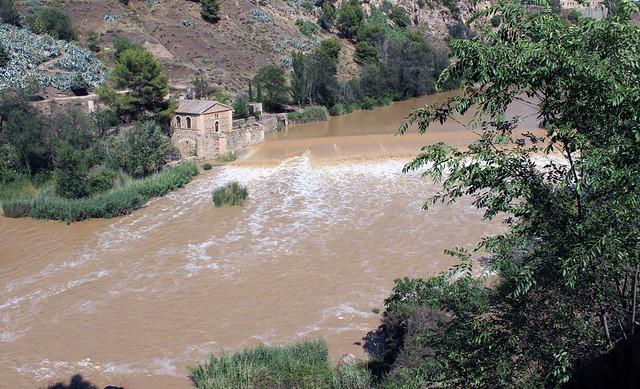 Río Tajo tras las tomentas